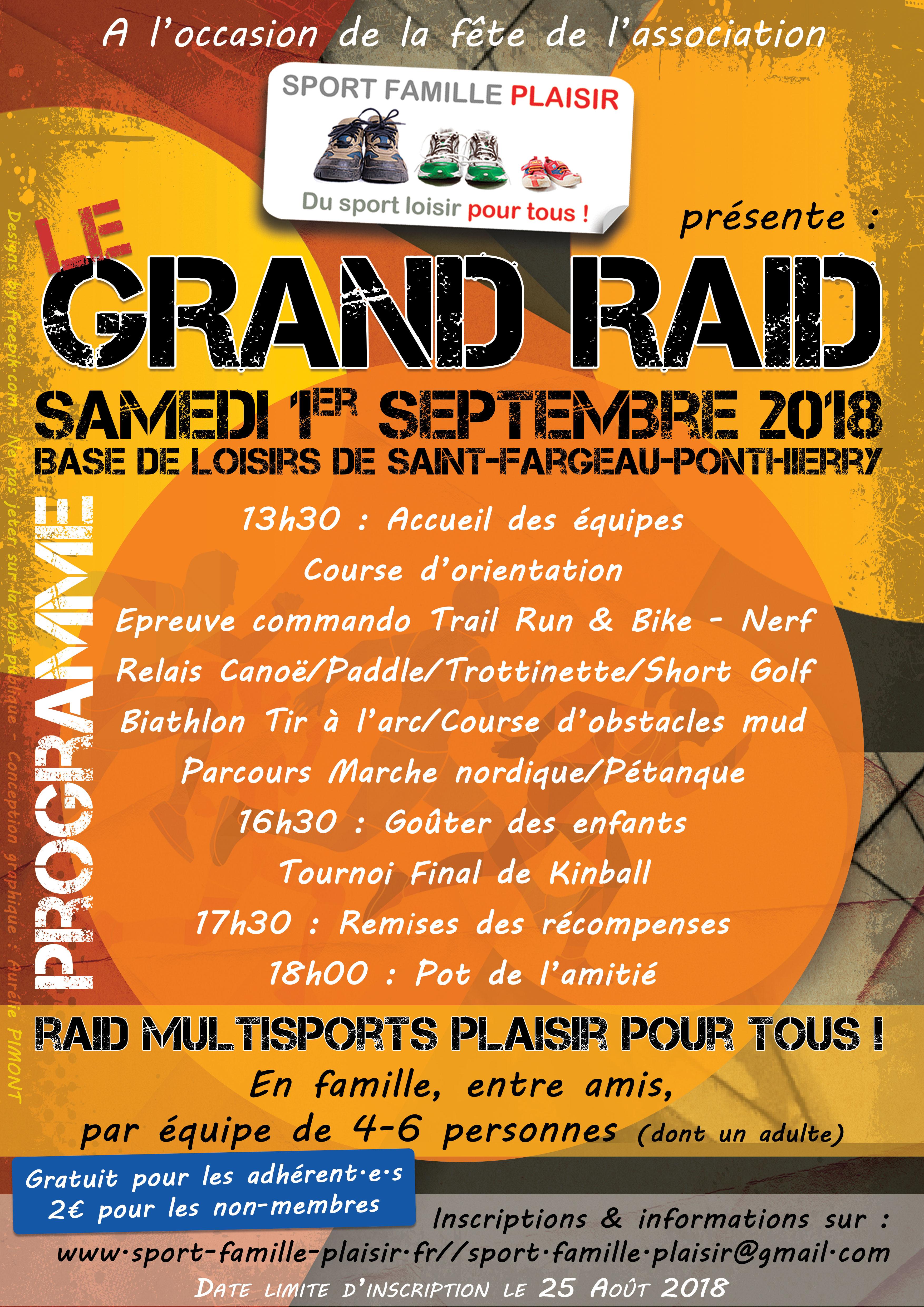 Découvrez le programme de notre Grand Raid 2018 !